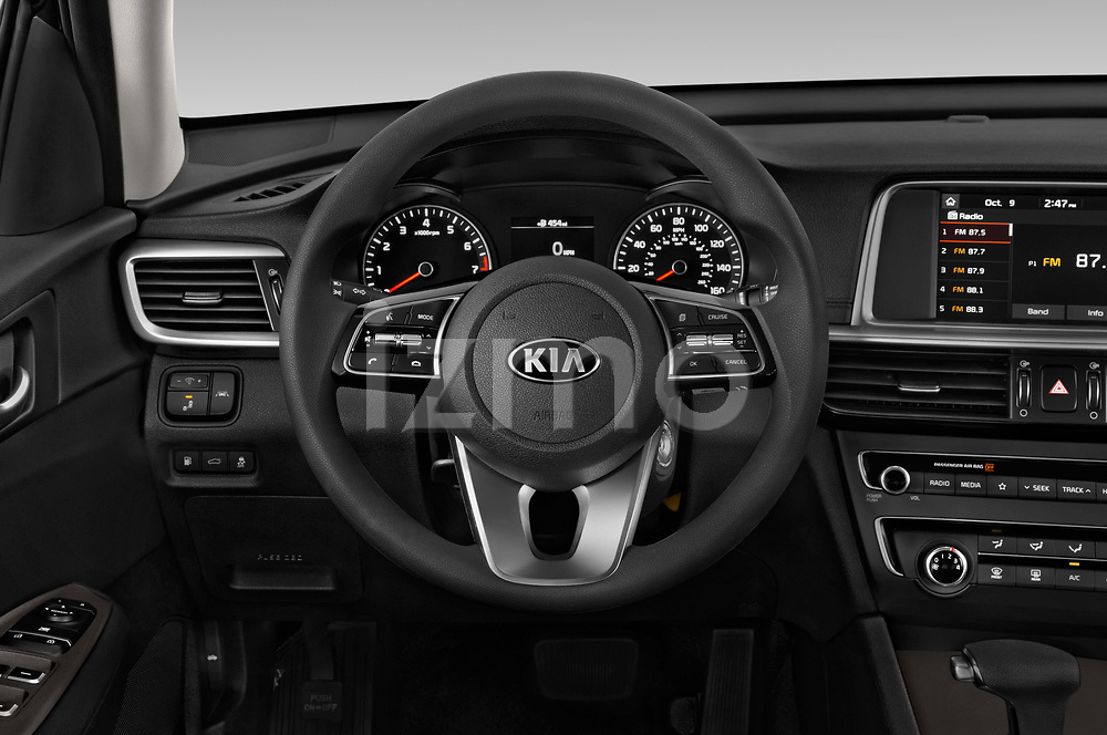 Car pictures of steering wheel view of a 2019 KIA Optima LX 4 Door Sedan