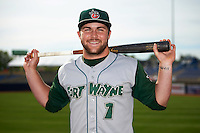 Fort Wayne TinCaps outfielder Michael Gettys (1) poses for a photo before a game against the Lake County Captains on May 20, 2015 at Classic Park in Eastlake, Ohio.  Lake County defeated Fort Wayne 4-3.  (Mike Janes/Four Seam Images)