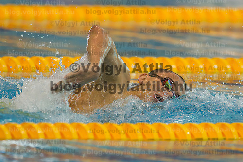 Laszlo Cseh of Hungary competes in the Men's 400m Individual Medley final of the 31th European Swimming Championships in Debrecen, Hungary on May 27, 2012. ATTILA VOLGYI
