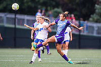 Allston, MA - Sunday July 31, 2016: Stephanie Verdoia, Toni Pressley during a regular season National Women's Soccer League (NWSL) match between the Boston Breakers and the Orlando Pride at Jordan Field.