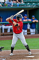 Anthony Villa (37) of the Great Falls Voyagers at bat against the Ogden Raptors in Pioneer League action at Lindquist Field on August 17, 2016 in Ogden, Utah. Ogden defeated Great Falls 5-2. (Stephen Smith/Four Seam Images)