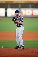 Tampa Yankees starting pitcher Brian Keller (38) gets ready to deliver a pitch during the second game of a doubleheader against the Charlotte Stone Crabs on July 18, 2017 at Charlotte Sports Park in Port Charlotte, Florida.  Charlotte defeated Tampa 2-1.  (Mike Janes/Four Seam Images)