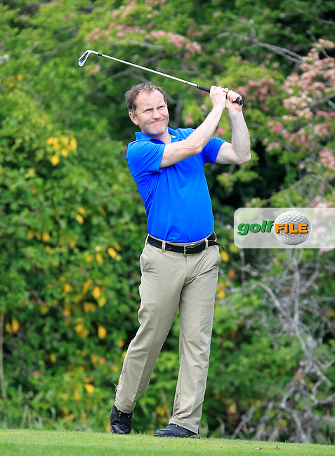 Peter McNeill (Woodbrook) on the 2nd tee during Round 1 of the Irish Mid-Amateur Open Championship at New Forest on Saturday 20th June 2015.<br /> Picture:  Thos Caffrey / www.golffile.ie