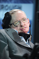 NEW YORK, NEW YORK - APRIL 12: Cosmologist Stephen Hawking attends the New Space Exploration Initiative 'Breakthrough Starshot' Announcement at One World Observatory. Stephen William Hawking CH, CBE, FRS, FRSA is an English theoretical physicist, cosmologist, author and Director of Research at the Centre for Theoretical Cosmology within the University of Cambridge on April 12, 2016 in New York City  Credit: Hoo-Me.com / MediaPunch