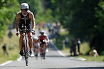 GER - Maxdorf, Germany, June 14: Athletes compete in the cycling section during the 12. Maxdorfer Triathlon on June 14, 2015 at TSG Maxdorf in Maxdorf, Germany. (Photo by Dirk Markgraf / www.265-images.com) *** Local caption *** Robin Bertram #154 (Tria Equipe-Elz)