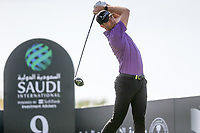 Sebastian Heisele (GER) on the 9th tee during the 1st round of  the Saudi International powered by Softbank Investment Advisers, Royal Greens G&CC, King Abdullah Economic City,  Saudi Arabia. 30/01/2020<br /> Picture: Golffile | Fran Caffrey<br /> <br /> <br /> All photo usage must carry mandatory copyright credit (© Golffile | Fran Caffrey)