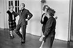Darby and Joan Club. Blind and partially sighted dance class for senior citizens at the Battersea Institute, South London 1970 UK.