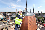 R &amp; M Williams<br /> Topping out at Four Elms Church in Cardiff.<br /> Beth Gamble, No Fit State Circus.<br /> <br /> 20.08.13<br /> <br /> &copy;Steve Pope-Fotowales