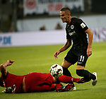 12.08.2018, Commerzbank - Arena, Frankfurt, GER, Supercup, Eintracht Frankfurt vs FC Bayern M&uuml;nchen , <br />DFL REGULATIONS PROHIBIT ANY USE OF PHOTOGRAPHS AS IMAGE SEQUENCES AND/OR QUASI-VIDEO.<br />im Bild<br />Mats Hummels (M&uuml;nchen), Mijat Gacinovic (Frankfurt)<br /> <br /> Foto &copy; nordphoto / Bratic