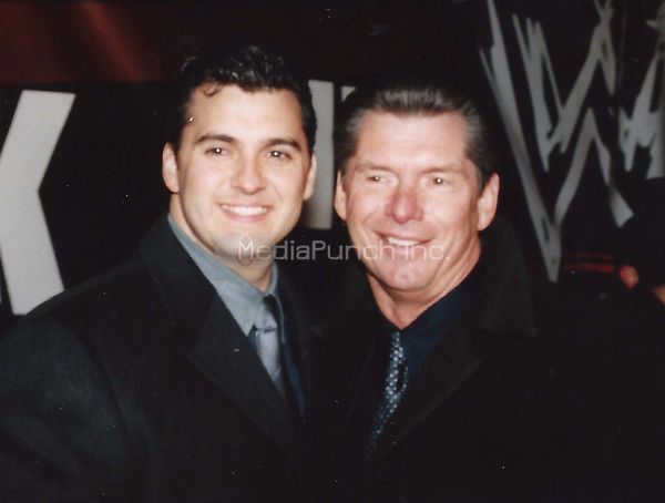Vince McMahon and son Shane 2000<br /> Photo to By John Barrett/PHOTOlink/MediaPunch