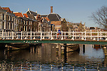 Man cycling in Leiden, Holland, the Netherlands,