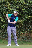 Ronan Mullarney from Ireland at the 17th tee during Round 2 Singles of the Men's Home Internationals 2018 at Conwy Golf Club, Conwy, Wales on Thursday 13th September 2018.<br /> Picture: Thos Caffrey / Golffile<br /> <br /> All photo usage must carry mandatory copyright credit (&copy; Golffile | Thos Caffrey)