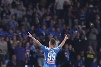 Arkadiusz Milik of Napoli celebrates after scoring a goal<br /> Napoli 30-10-2019 Stadio San Paolo <br /> Football Serie A 2019/2020 <br /> SSC Napoli - Atalanta BC<br /> Photo Cesare Purini / Insidefoto