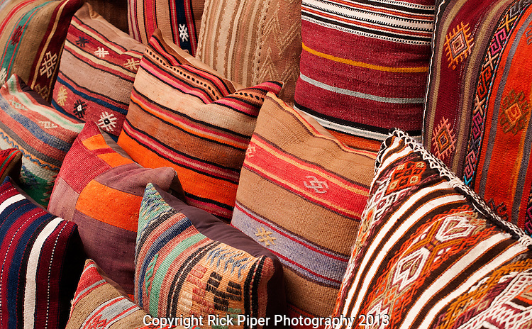 Turkish Cushions 03 - Turkish cushions at Arasta Bazaar, Sultanahmet, Istanbul, Turkey