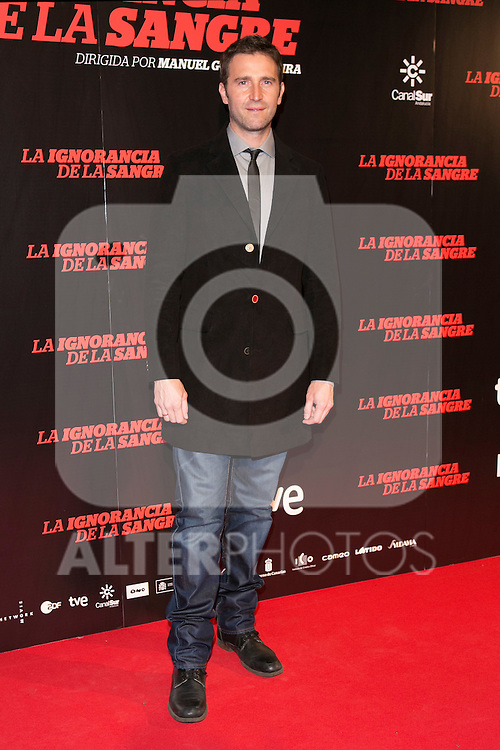 "Fernando Gil attends ""La Ignorancia de la Sangre"" Premiere at Capitol Cinema in Madrid, Spain. November 13, 2014. (ALTERPHOTOS/Carlos Dafonte)"