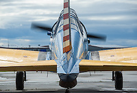 A 1944 Vultee BT-13 operated by the Alaska Wing of the Commemorative Air Force at Merrill Field.  Photo by James R. Evans