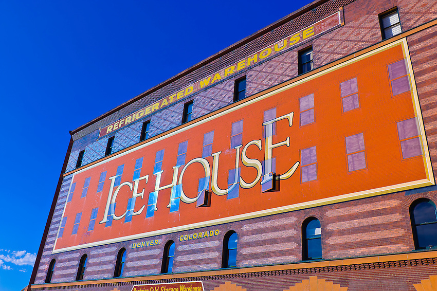 The Ice House, historic building in LoDo (Lower Downtown), Denver, Colorado USA