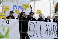 Roma, 21 Febbraio 2019<br /> Manifestazione a favore della costruzione della Tav davanti Monte Citorio