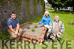 Listowel Tidy Towns Committee David Ryan, Kieran Moloney and Paddy Keane showing the new butterfly box which has been constructed next to the newly planted community fruit and nut orchard on the River Walk.