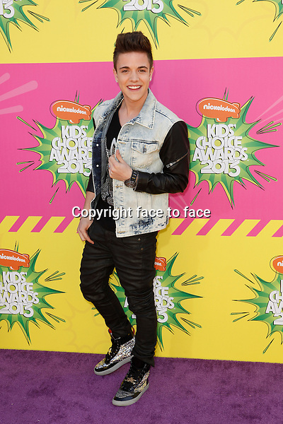 Luca Hanni arriving at Nickelodeon's 26th Annual Kids' Choice Awards held at USC Galen Center on March 23, 2013 in Los Angeles, California. ..Credit: MediaPunch/face to face..- Germany, Austria, Switzerland, Eastern Europe, Australia, UK, USA, Taiwan, Singapore, China, Malaysia and Thailand rights only -