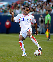 Costa Rica's Junior Diaz cuts the ball back.  Mexico defeated Costa Rica 4-1 at the 2011 CONCACAF Gold Cup at Soldier Field in Chicago, IL on June 12, 2011.