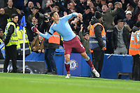 Fabian Balbuena throws his shirt to the fans during Chelsea vs West Ham United, Premier League Football at Stamford Bridge on 30th November 2019