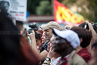 Diego, Journalist and TV Presenter.<br /> <br /> Rome, 01/05/2019. This year I will not go to a MayDay Parade, I will not photograph Red flags, trade unionists, activists, thousands of members of the public marching, celebrating, chanting, fighting, marking the International Worker's Day. This year, I decided to show some of the Workers I had the chance to meet and document while at Work. This Story is dedicated to all the people who work, to all the People who are struggling to find a job, to the underpaid, to the exploited, and to the people who work in slave conditions, another way is really possible, and it is not the usual meaningless slogan: MAKE MAYDAY EVERYDAY!<br /> <br /> Happy International Workers Day, long live MayDay!