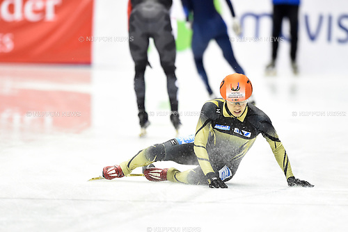 Minto Sekai (JPN), <br /> FEBRUARY 11, 2015 - Short Track : <br /> 27th Winter Universiade Granada 2015 <br /> Short Track Men's 1500m Heats <br /> at Universiade Igloo, Granada, Spain. <br /> (Photo by AFLO SPORT) [1220]