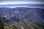 Aerial over the Absaroka Range, north of Yellowstone National Park MONTANA