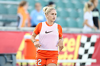 Cary, North Carolina  - Saturday September 09, 2017: Camille Levin prior to a regular season National Women's Soccer League (NWSL) match between the North Carolina Courage and the Houston Dash at Sahlen's Stadium at WakeMed Soccer Park. The Courage won the game 1-0.