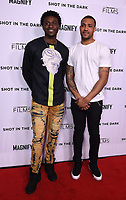 """WEST HOLLYWOOD - FEBRUARY 15: Tyquone Greer and Marquise Pryor arrive for the LA screening of Fox Sports """"Shot in the Dark"""" at the Pacific Design Center on February 15, 2018 in West Hollywood, California.(Photo by Frank Micelotta/Fox/PictureGroup)"""