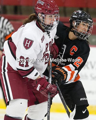 Jessica Harvey (Harvard - 21), Gabie Figueroa (Princeton - 21) - The Harvard University Crimson defeated the visiting Princeton University Tigers 4-0 on Saturday, October 26, 2013, at Bright-Landry Hockey Center in Cambridge, Massachusetts.