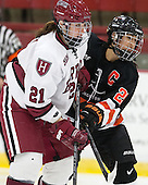 Jessica Harvey (Harvard - 21), Gabie Figueroa (Princeton - 21) - The Harvard University Crimson defeated the visiting Princeton University Tigers 4-0 on Saturday, October 26, 2013, at Bright-Landry Hockey Center in Cambridge, Massachusetts.