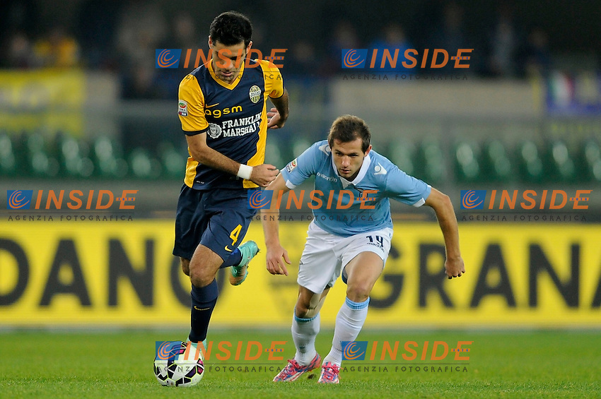 Rafael Marquez Verona, Senad Lulic Lazio <br /> Verona 30-10-2014 Stadio Bentegodi. Football Calcio 2014/2015 Serie A. Hellas Verona - Lazio. Foto Insidefoto
