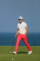Jeunghun Wang (KOR) during the first round of the NBO Open played at Al Mouj Golf, Muscat, Sultanate of Oman. <br /> 15/02/2018.<br /> Picture: Golffile | Phil Inglis<br /> <br /> <br /> All photo usage must carry mandatory copyright credit (&copy; Golffile | Phil Inglis)