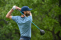 Kyle Stanley (USA) watches his tee shot on 1 during day 3 of the Valero Texas Open, at the TPC San Antonio Oaks Course, San Antonio, Texas, USA. 4/6/2019.<br /> Picture: Golffile | Ken Murray<br /> <br /> <br /> All photo usage must carry mandatory copyright credit (© Golffile | Ken Murray)