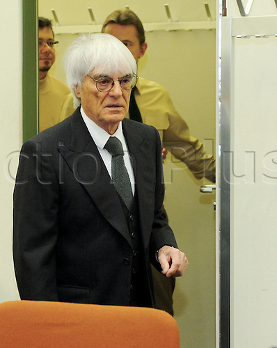 Bernie Ecclestone, CEO and president of F1's governing body, arrives to another session of the trial against the former head of risk management at Bavarian bank BayernLB  Gribkowsky at the state court in Munich, Germany, 10 November 2011.  Former head of risk management at Bavarian bank BayernLB Gerhard Gribkowsky is charged with corruption, abuse of confidence and tax evasion, after overseeing the sale of BayernLB's commercial rights stake to private equity firm CVC Capital Partners in early 2006. Bernie Ecclestone has admitted to paying Gribkowsky a total of 44 million dollars in 2006 and 2007 from himself and his family holding company Bambino Trust on Monday, 09 November 2011.