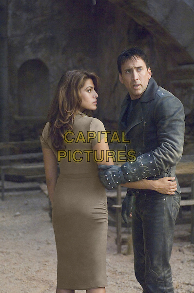 EVA MENDES & NICOLAS CAGE.in Ghost Rider.Mendez .**Editorial Use Only**.CAP/FB.Supplied by Capital Pictures