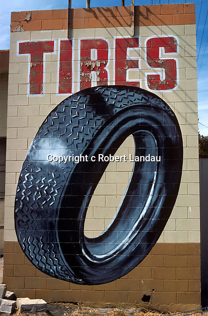 Tire ad on wall Beverly Blvd. 1979