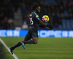 Victor Moses of Chelsea chests the ball during the premier league match at the John Smith's Stadium, Huddersfield. Picture date 12th December 2017. Picture credit should read: Simon Bellis/Sportimage