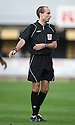 Referee Simon Long during the Blue Square Bet Premier match between Cambridge United and Newport County at the Abbey Stadium, Cambridge  on 25th September, 2010.© Kevin Coleman
