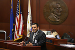 Mike Ramirez, representing the Las Vegas Police Protective Association, speaks on the Senate floor during a special session at the Legislative Building in Carson City, Nev. on Thursday, Oct. 13, 2016. <br /> Photo by Cathleen Allison