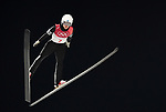 Kevin Maltsev (EST). Mens normal hill individual. Qualification. Ski jumping. Alpensia ski jump centre. Pyeongchang2018 winter Olympics. Alpensia. Pyeongchang. Republic of Korea. 08/02/2018. ~ MANDATORY CREDIT Garry Bowden/SIPPA - NO UNAUTHORISED USE - +44 7837 394578