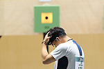 Tomoyuki Matsuda (JPN), <br /> AUGUST 19, 2018 - Shooting : <br /> 10m Air Pistol Mixed Team Final<br /> at Jakabaring Sport Center Shooting Range <br /> during the 2018 Jakarta Palembang Asian Games <br /> in Palembang, Indonesia. <br /> (Photo by Yohei Osada/AFLO SPORT)