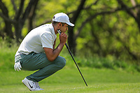 Julian Suri (USA) in action during the third round of the Volvo China Open played at Topwin Golf and Country Club, Huairou, Beijing, China 26-29 April 2018.<br /> 28/04/2018.<br /> Picture: Golffile | Phil Inglis<br /> <br /> <br /> All photo usage must carry mandatory copyright credit (&copy; Golffile | Phil Inglis)