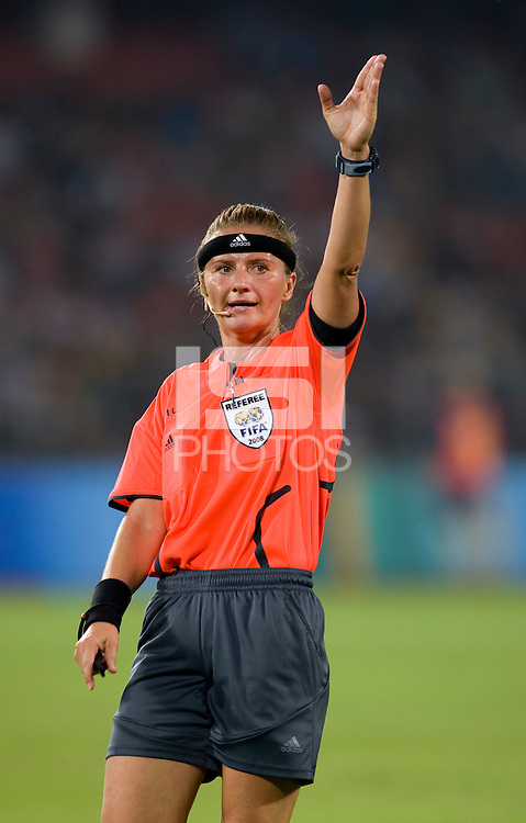 Nicole Petignet. The USWNT defeated Japan, 4-2, during the semi-finals of the Beijing 2008 Olympics in Beijing, China.