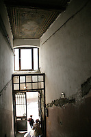Interior of a historical building in Beyoglu in need of restoration, Istanbul, Turkey