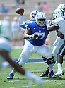 Duke Blue Devils Laken Tomlinson (77) during a game against the Tulane Green Wave on September 20, 2014 at Wallace Wade Stadium in Durham, NC. Duke beat Tulane 47-13.