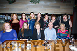 Kerry University Hospital Management staff enjoying their Christmas Party in No 4 the Square on Friday night last. Seated l-r, Helena Behan, Nuala O'Connor, Betty Murphy, Fergal Grimes and Pauline McCarthy.<br /> Back row l-r Kerry McCauliffe, Mareeda de Roiste, Gerane Nevins, Sandra Hayes, Dymphna Griffin, Mary Fitzgerald and Amanda Coulson.