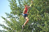 FIERLJEPPEN: IT HEIDENSKIP: Fierljepferiening It Heidenskip, 27-07-2013, NFM Nederlandse Fierljep Manifistatie, Jaco de Groot , ©foto Martin de Jong